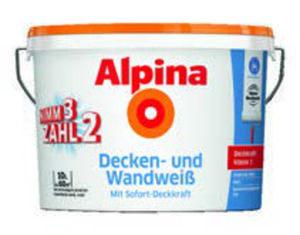 3 x Alpina  Decken- und Wandweiß