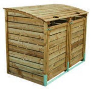 Doppel-Mülltonnenbox
