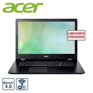 Acer Aspire 3 A317-32-C1PF, Intel® Celeron® N4120 (bis zu 2,6 GHz), Acer CineCrystal™ HD+ Display mit LED-Backlight, Grafikkarte: Intel® UHD Graphics 600, DVD-Laufwerk, Stereo-Lautsprecher, Webc