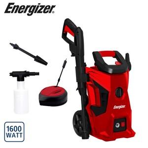 Energizer Hochdruckreiniger EZN1600, Fördermenge: max. 420 l/h, max. Arbeitsdruck: 80 bar, inkl. Turbodüse, Terrassenbürste, Sprühflasche für Reinigungsmittel, 5 Meter Hochdruckschlauch