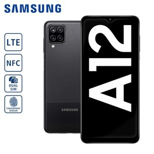 Samsung Smartphone Galaxy A12 A125F, 4-fach-Hauptkamera mit Weitwinkel-, Ultraweitwinkel-, Makro- und Bokeh-Objektiv (48 MP + 5 MP + 2 MP + 2 MP), 8-MP-Frontkamera, 4-GB RAM, bis zu 64 GB interner S