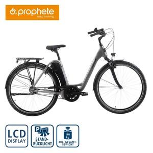 Prophete Alu-Elektro-Citybike Geniesser EMC 500 28er, Fahrunterstützung bis ca. 25 km/h, 5 Unterstützungsstufen, AEG Li-Ionen-Akku 36 V/11,6 Ah, 418 Wh, Reichweite: bis ca. 110 km (je nach Fahrweis