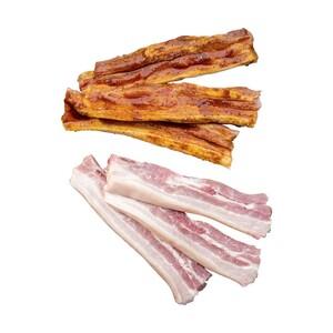 Frischer Schweinebauch mit Knochen, am Stück oder in Scheiben, natur oder mariniert, je 1 kg