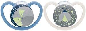 NUK Beruhigungssauger Space Night Silikon Fuchs & Glühwürmchen 18-36 Monate
