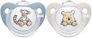 NUK Beruhigungssauger Trendline Silikon Disney Winnie Puuh 0-6 Monate Boy
