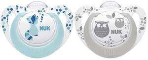 NUK Beruhigungssauger Genius Color Silikon Blau & Grau 6-18 Monate