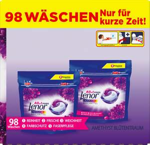 Lenor All-in-1 Amethyst Blütentraum Waschmittel PODS 98 WL