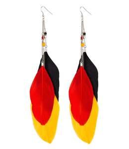 accessories Deutschland Ohrhänger mit Federn und Strasssteinen