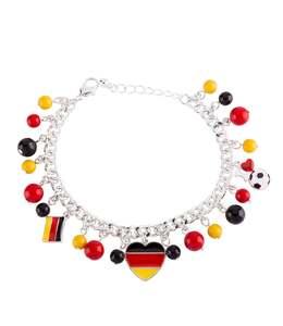 accessories Deutschland Charm-Armband mit Herz, Fußball und Flagge