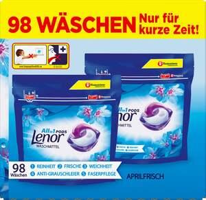Lenor All-in-1 Aprilfrisch Waschmittel PODS 98 WL