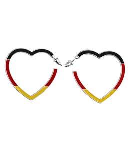 accessories Deutschland Ohrschmuck, Creolen in Herz-Form