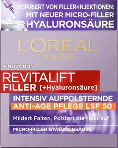 L'Oréal Paris Revitalift Filler [+Hyaluronsäure] Intensiv Aufpolsternde Anti-Age Tagespflege mit LSF 50