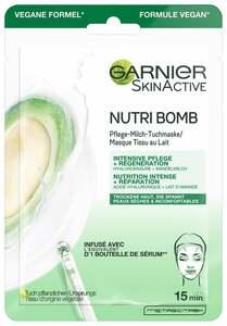 Garnier SkinActive Nutri Bomb Pflege-Milch-Tuchmaske Mandelmilch