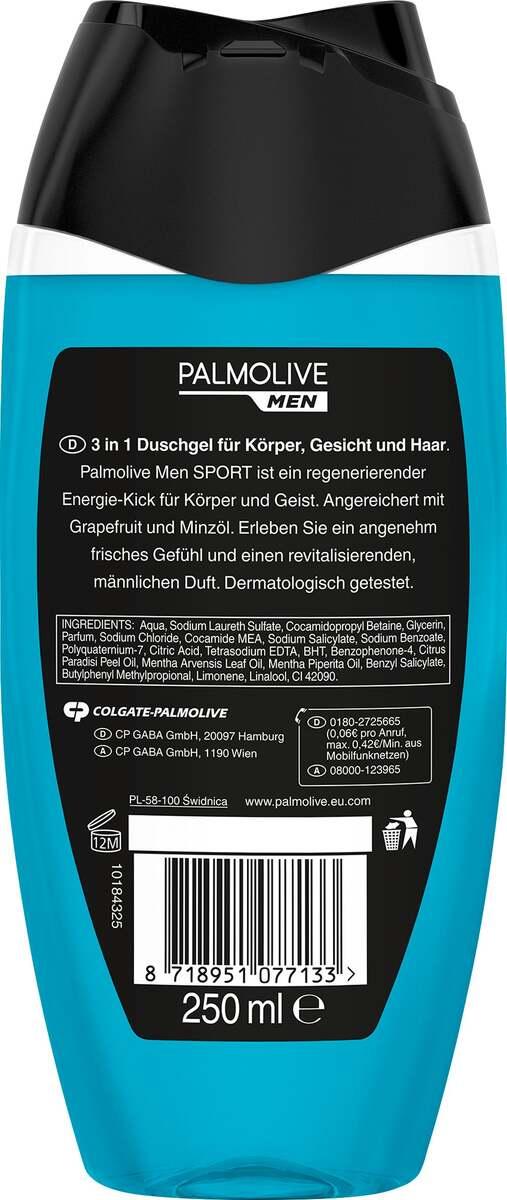 Bild 2 von Palmolive MEN Duschgel Revitalising Sport 3 in 1 Haut & Haar