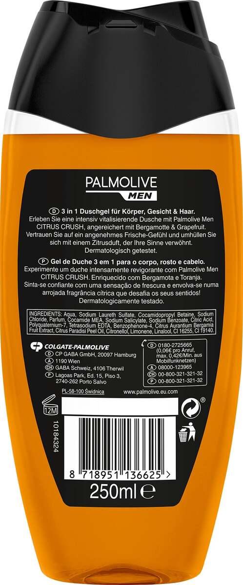 Bild 2 von Palmolive MEN Duschgel Citrus Crush 3 in 1 Haut & Haar