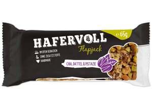 HAFERVOLL Flapjack Chia, Datteln & Pistazie