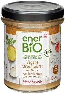 enerBiO Vegane Streichwurst auf Basis weißer Bohnen