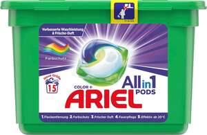 Ariel All-in-1 PODS Color+ Colorwaschmittel 15WL