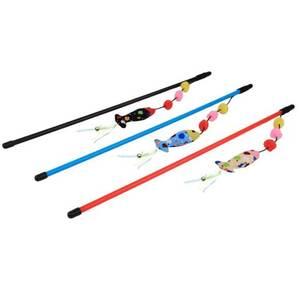 Bubimex Katzenspielzeug Angel mit Fisch Cord in drei Farben