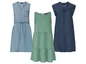 ESMARA® Kleid Damen, aus reinem Lyocell