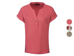 ESMARA® Bluse Damen, mit Tunikakragen, leichte Qualität