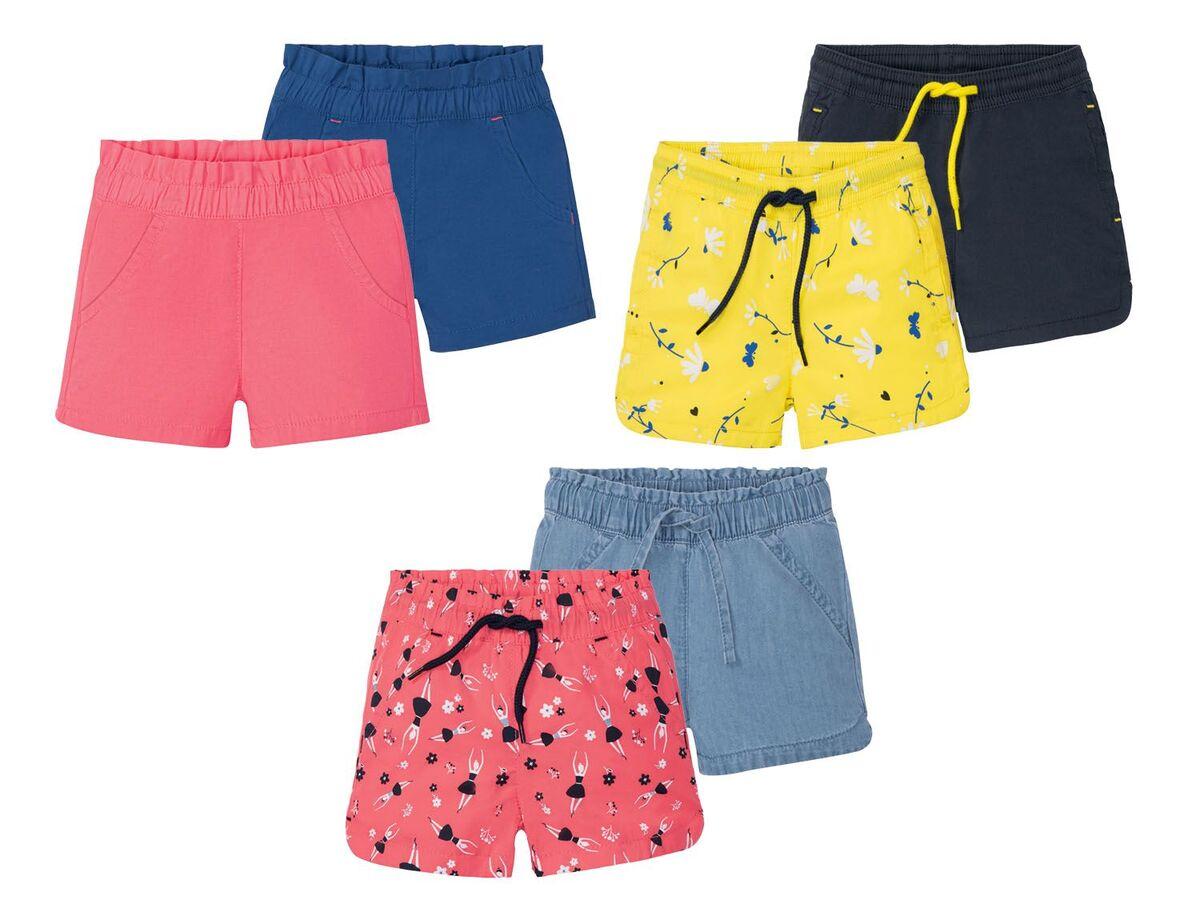Bild 1 von LUPILU® Kleinkinder Shorts Mädchen, 2 Stück