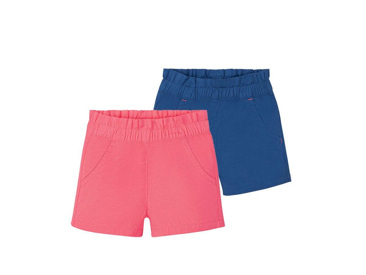 Bild 2 von LUPILU® Kleinkinder Shorts Mädchen, 2 Stück