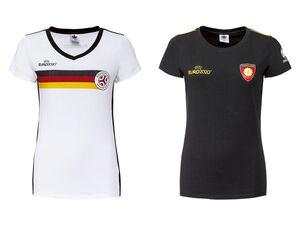 UEFA Fußball-EM T-Shirt Damen, mit Baumwolle und Elasthan