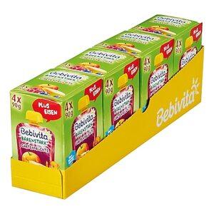 Bebivita Kinderspaß Gartenfrüchte 4 x 90 g, 4er Pack