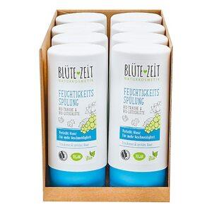 BLÜTE-ZEIT Feuchtigkeits Spülung Bio-Traube & Bio-Lotusblüte 200 ml, 8er Pack