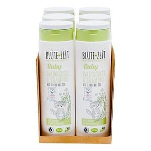 BLÜTE-ZEIT BABY 2in1 Duschgel & Shampoo Bio-Lindenblüte 300 ml, 6er Pack