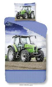Wende-Kinderbettwäsche Tractor aus Baumwolle