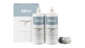iWear® Multiclean Plus inkl. Hyaluron, 2x 380ml All-in-One Pflege Doppelpack 760 ml unisex