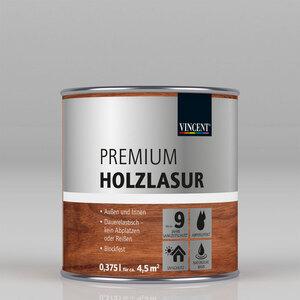"""Vincent              Premium Holzlasur """"Weiß"""", 0,375 L"""
