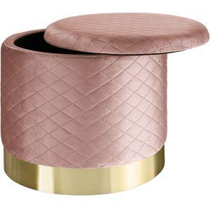 Sitzhocker Coco gepolstert in Samtoptik 300kg mit Stauraum rosa