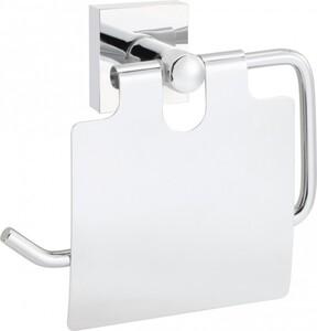 Primaster Papierrollenhalter Classic Cube Edelstahl, mit Deckel