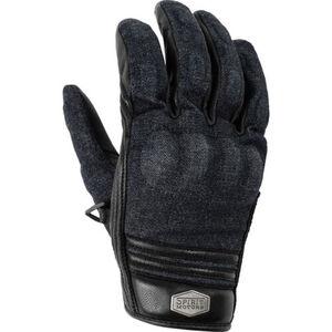 Leder-Denim Handschuh 1.0 schwarz/blau