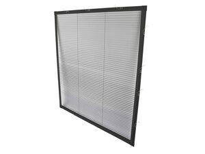 wip Insektenschutz Plissee für Fenster, extra dünne Aluminium-Profile, B 100 x H 120 cm