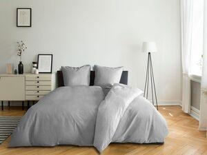 Castell Satin Bettwäsche »Uni Melange«, 135x200 cm oder 155x220 cm, aus Baumwolle