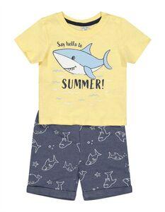 Baby Set aus Shirt und Shorts - Animal-Print