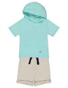 Baby Set aus Shirt und Shorts - Aufnäher