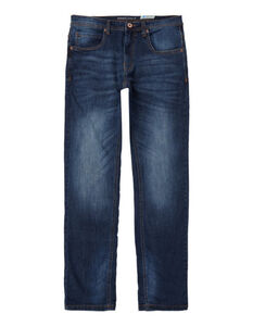 Herren Straight Fit Jeans im Stone Washed Look