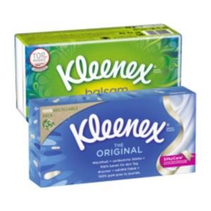 Kleenex Box Original oder Kleenex Balsam Taschentücher
