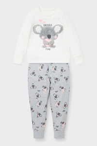 C&A Pyjama-Bio-Baumwolle-2 teilig, Bunt, Größe: 122
