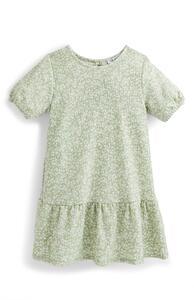 Kleid in Knitteroptik mit Puffärmeln (kleine Mädchen)