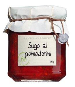Cascina San Giovanni Sugo ai pomodorini Bio - Tomatensauce mit Kirschtomaten 180ml 0000 - Saucen, Pesto & Chutneys, Italien, 0.1800 l