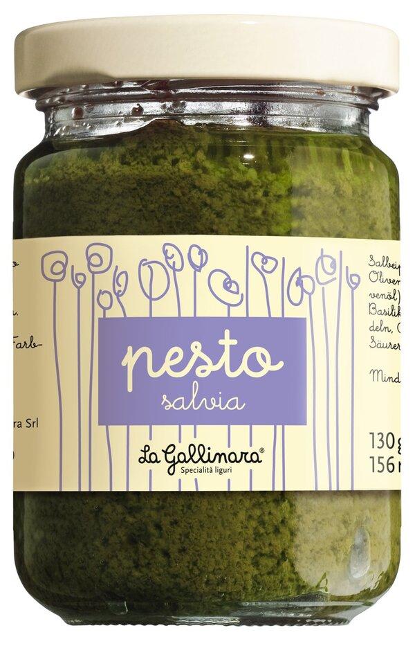 La Gallinara Pesto salvia - Salbeipesto 130g 0000 - Saucen, Pesto & Chutneys, Italien, 0.1300 kg