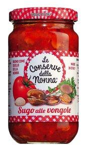 Le Conserve della Nonna Sugo alle vongole - Tomatensauce mit Venusmuscheln 212ml 0000 - Saucen, Pesto & Chutneys, Italien, 0.2120 l