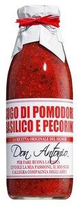 Don Antonio Sugo al basilico e pecorino - Tomatensauce mit Basilikum und Schafskäse 480ml 0000 - Saucen, Pesto & Chutneys, Italien, 0.4800 l