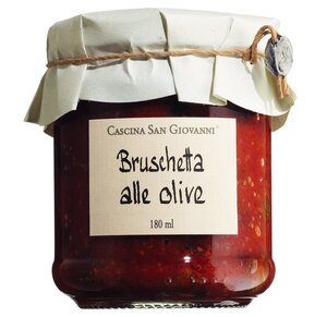 Cascina San Giovanni Bruschetta alle Olive - Tomatenaufstrich mit Oliven 180ml 0000 - Saucen, Pesto & Chutneys, Italien, 0.1800 l
